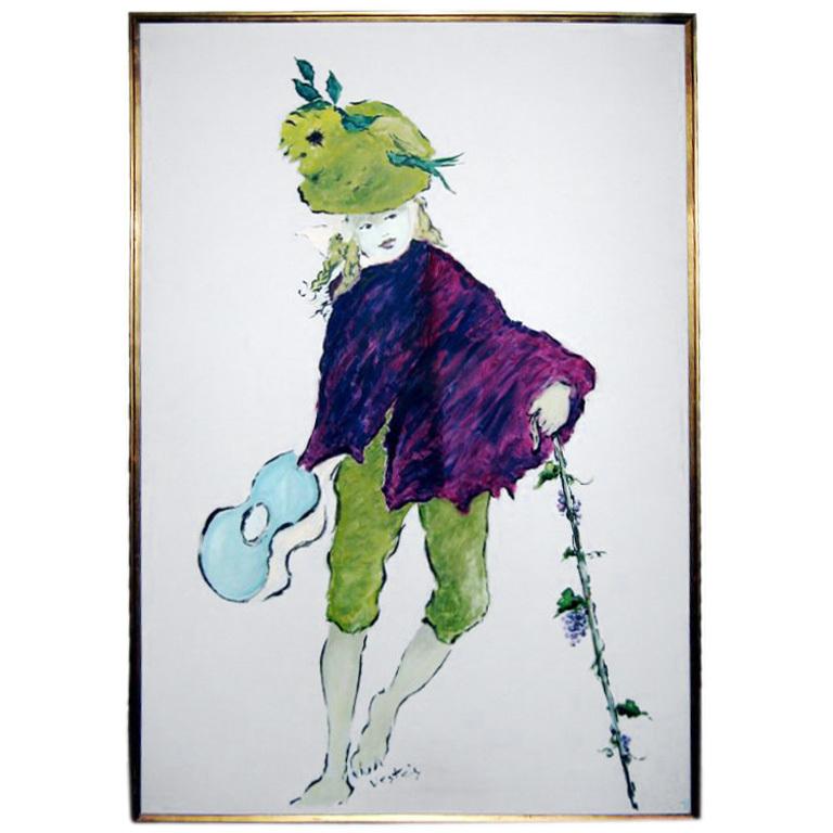 """Marcel Verte  """"Bon Vivant"""" Painting $65,000"""