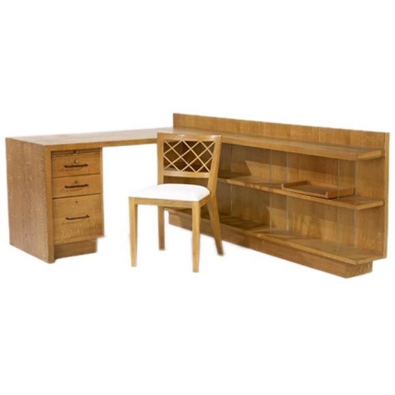 "Jean Royère  Custom Desk and ""Croissilon"" Chair $55,000"