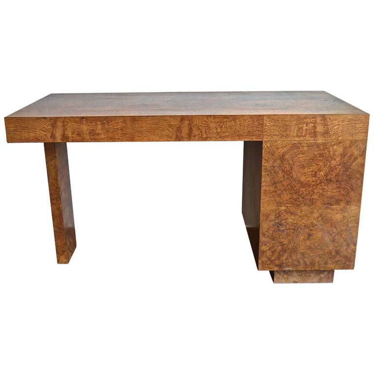 Samuel Marx  Burled Oak Desk $45,000