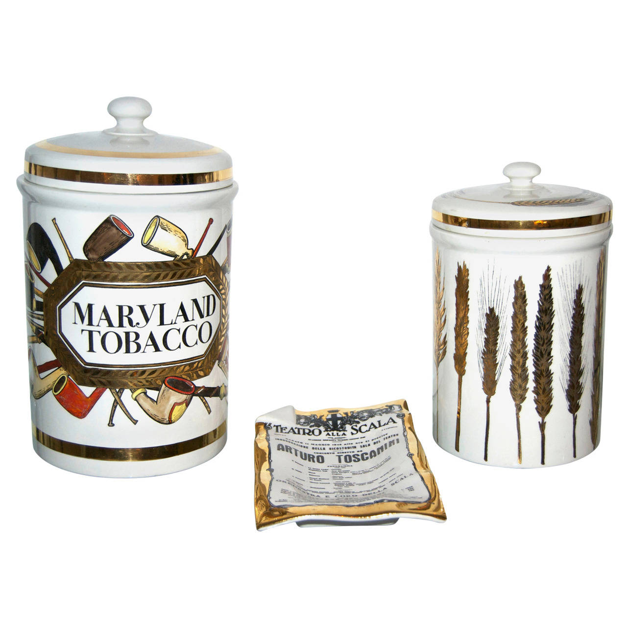 Fornasetti  Ceramic Vessels and Tray $2,700
