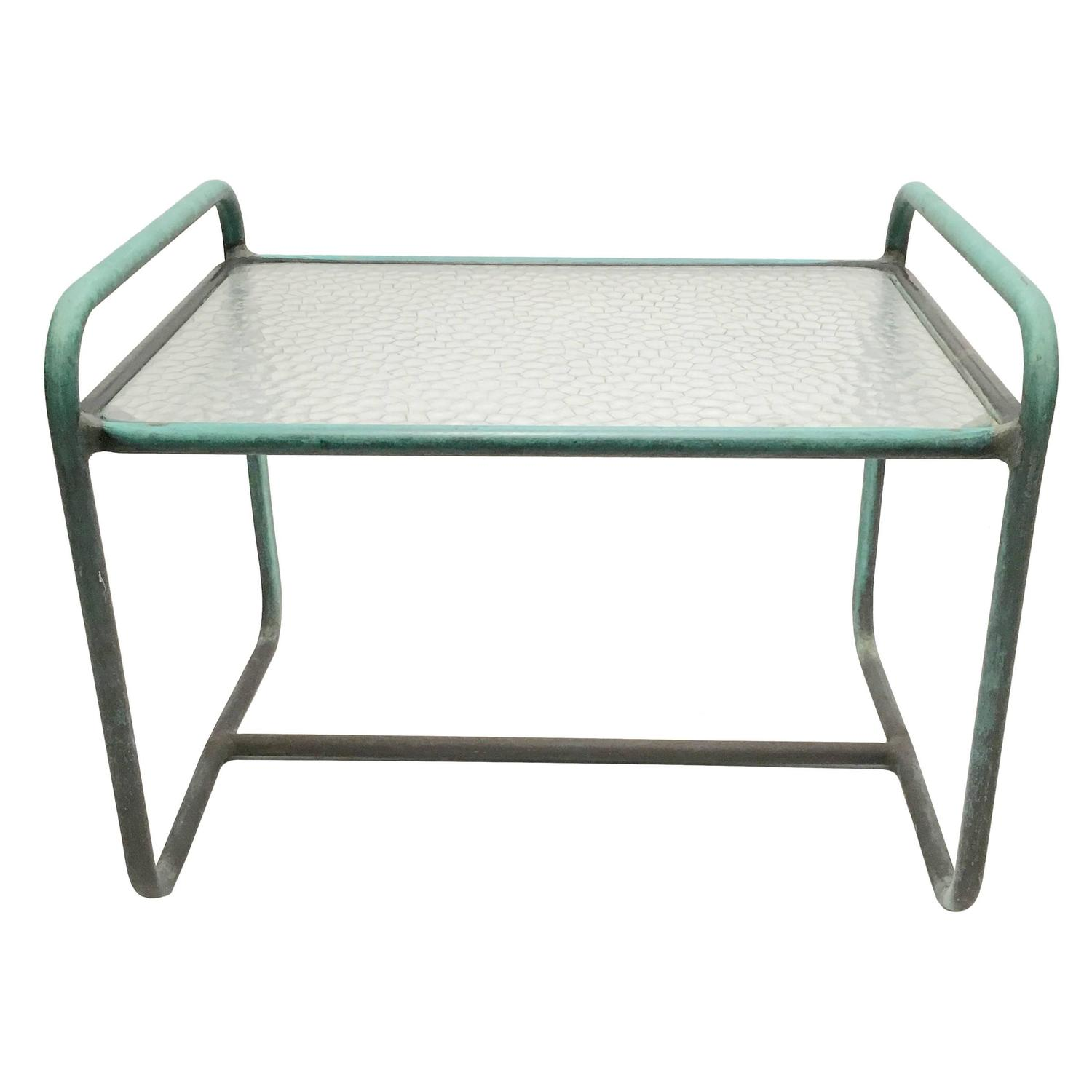 Walter Lamb   Glass Top Side Table $3,000