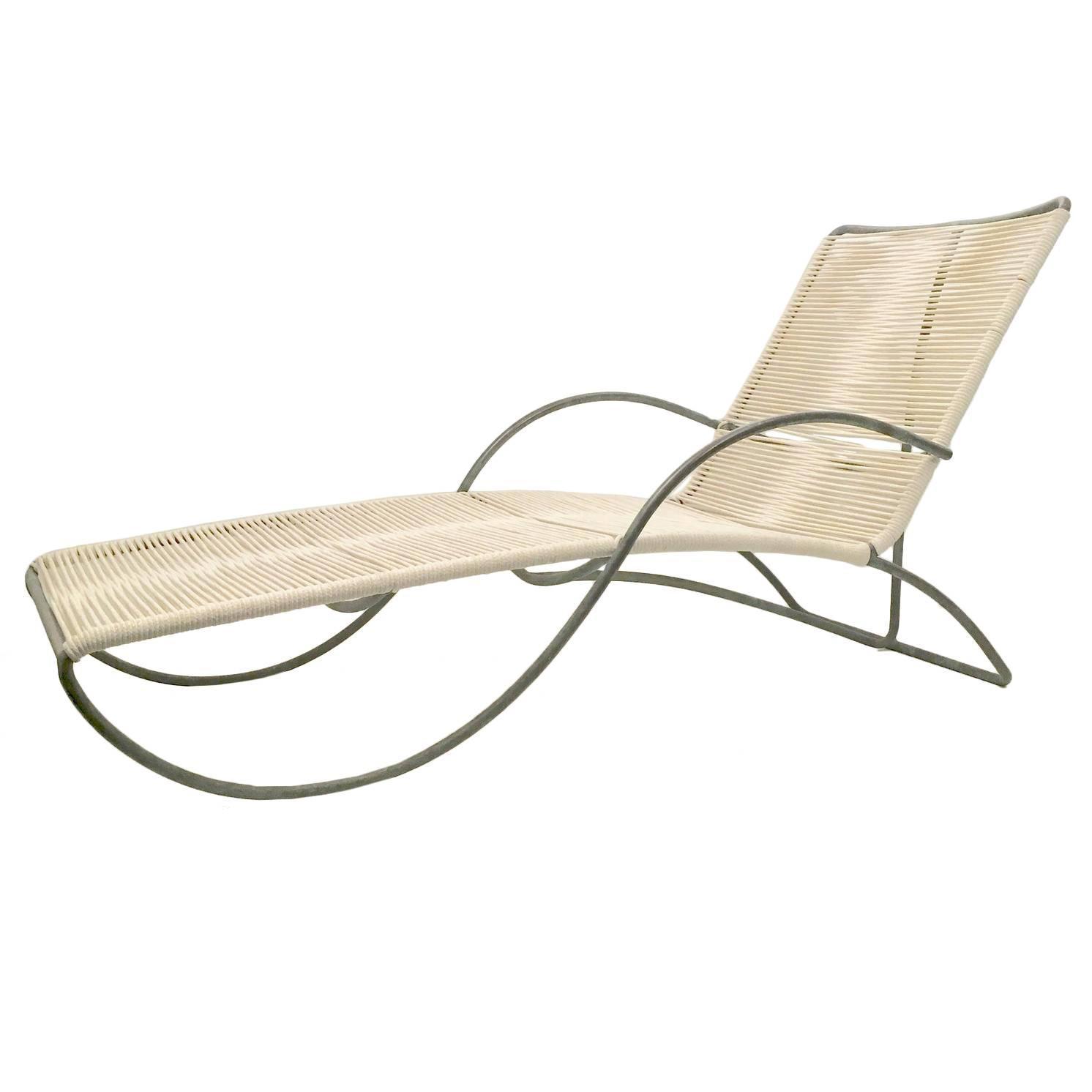 "Walter Lamb  Bronze ""S"" Arm Chaise $7,500"