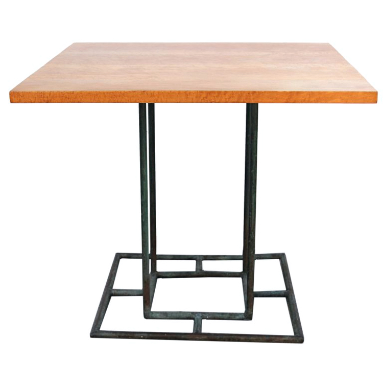Walter Lamb   Dining Table with Birch Burl Top $6,500