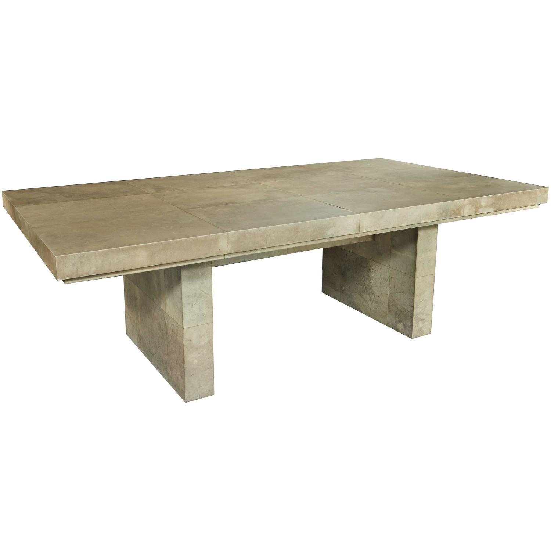 Samuel Marx   Parchment Clad Dining Table $85,000
