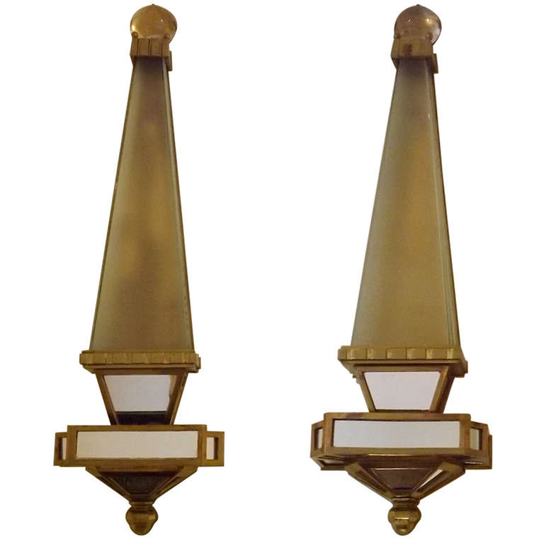 Bagues  Obelisk Sconces in Bronze $8,500