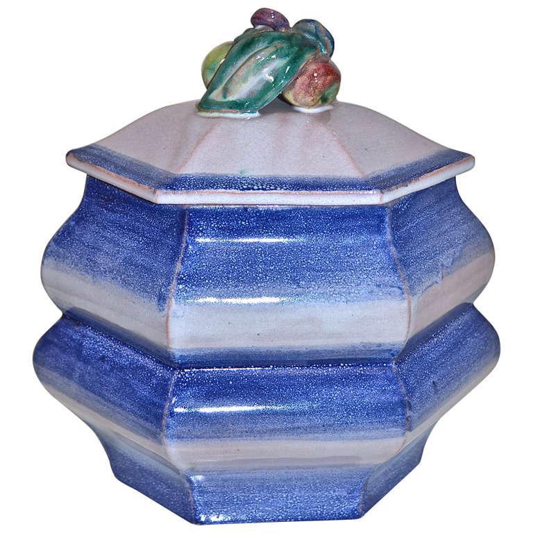 Weiner Werkstatte  Large Ceramic Covered Vessel $4,500