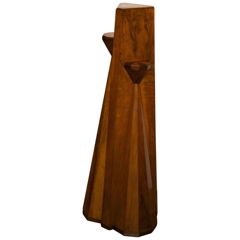 Czech Cubist  Early Wood Pedestal $9,500