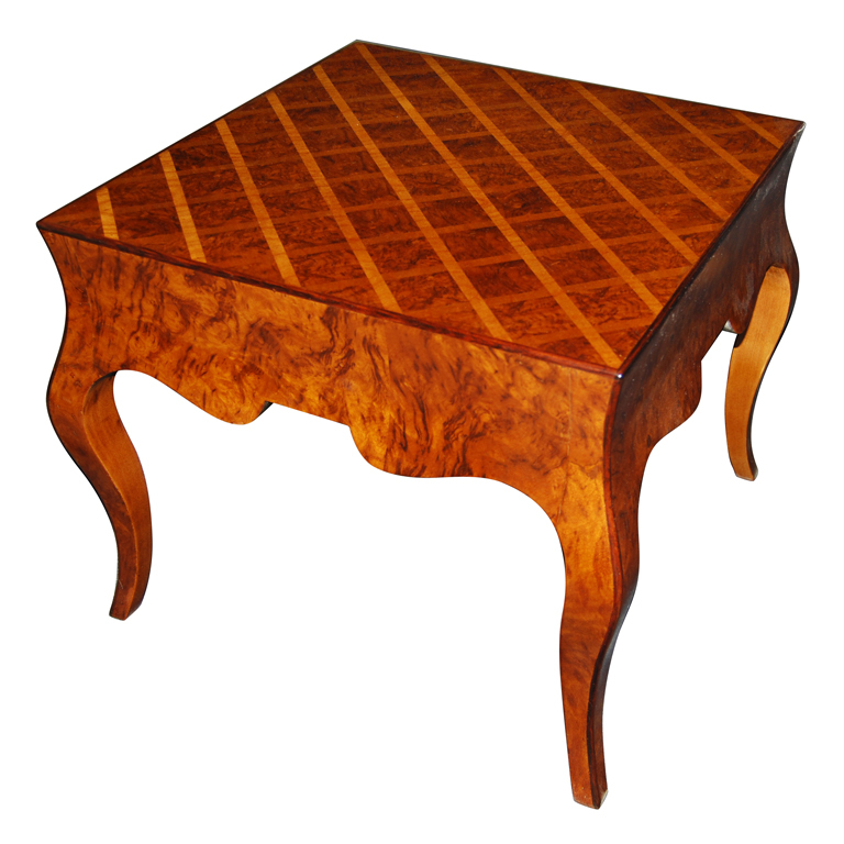 Italian Parquetry Top Occasional Table $2,400