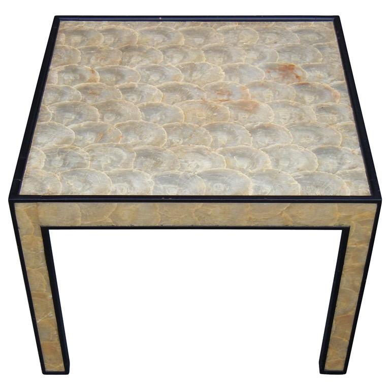 Frances Elkins  Capiz Shell Clad Occasional Table $5,500