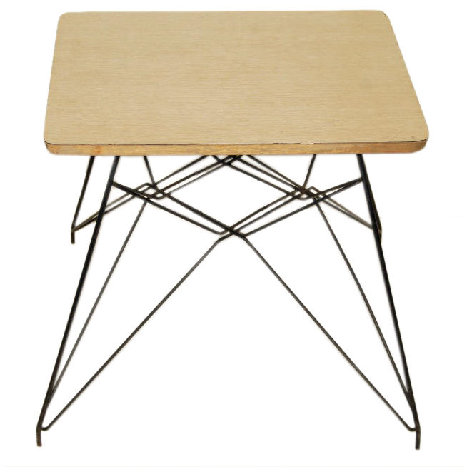 """Charles Eames   Rare Prototype """"Eiffel Tower"""" Table $8,500"""