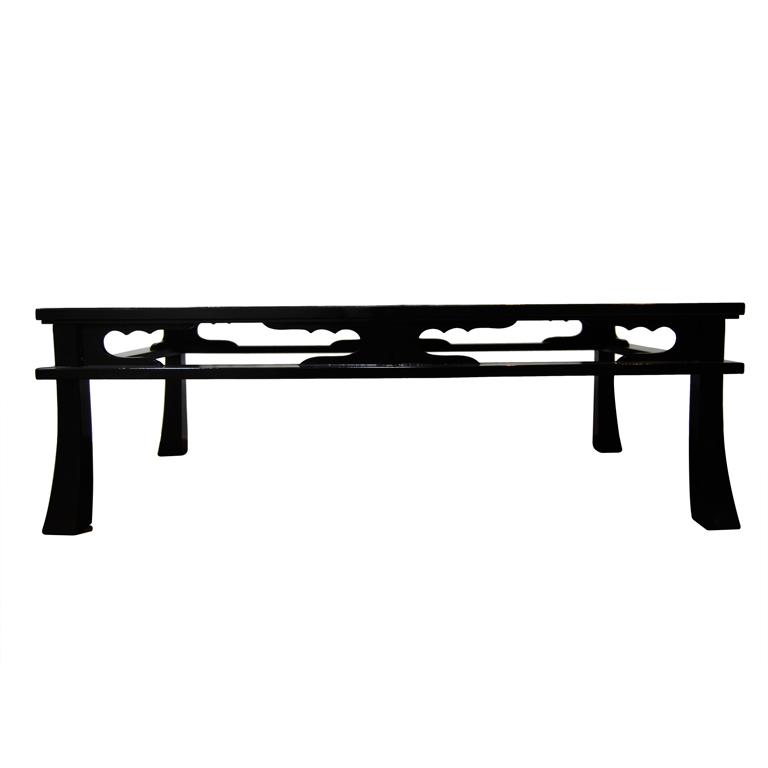 """Maison Jansen  """"Chow"""" Table in Black Craqueleur Lacquer $6,900"""