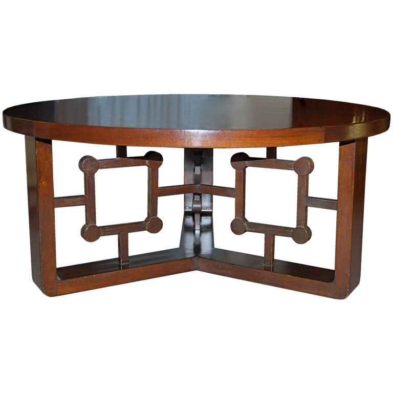Jean Royère  African Mahogany Cocktail Table $35,000