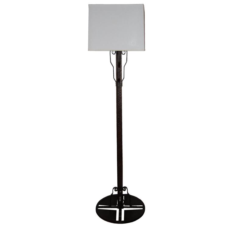 French Fer Forge Floor Lamp style of Edgar Brandt $4,500