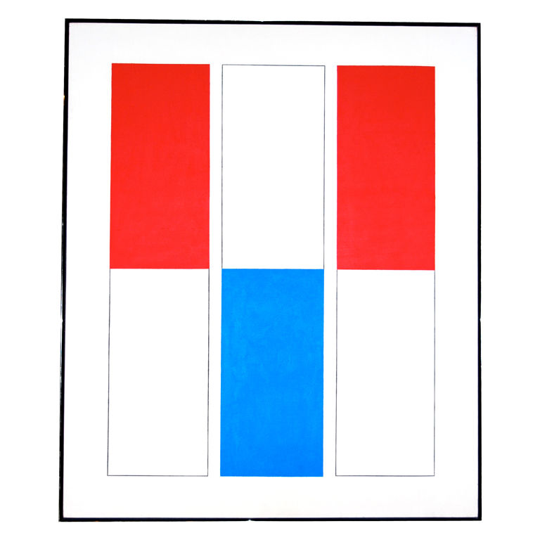"Jules Engel  ""Exceptional Document"" 1968, Large Painting $10,500"