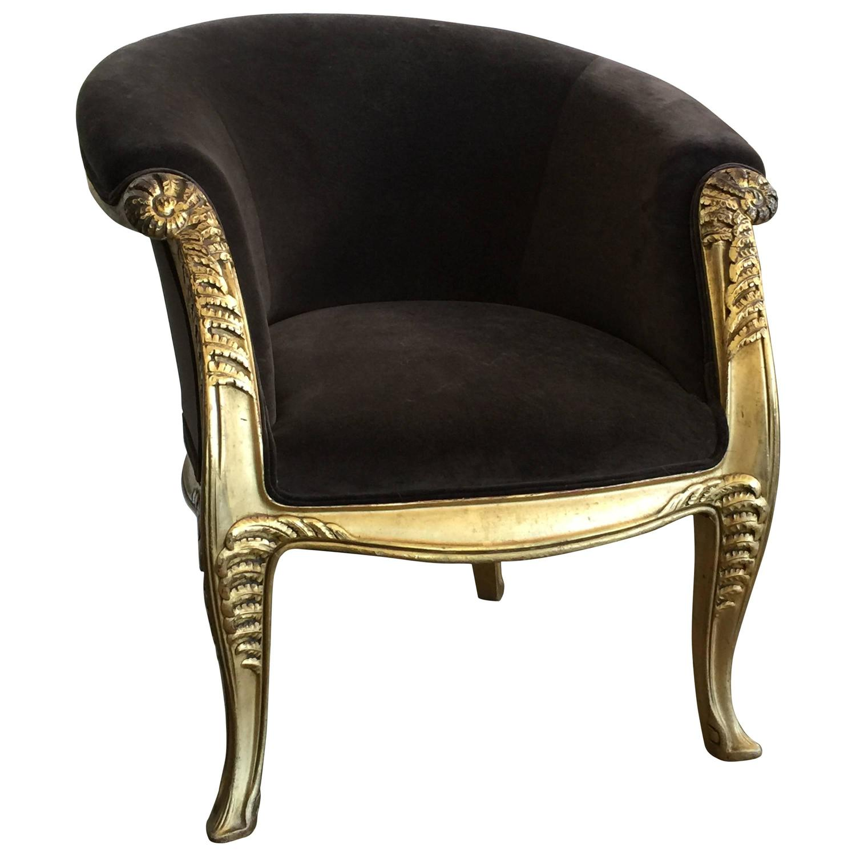 Maurice Dufrene  Gilded Lounge Chair $19,500