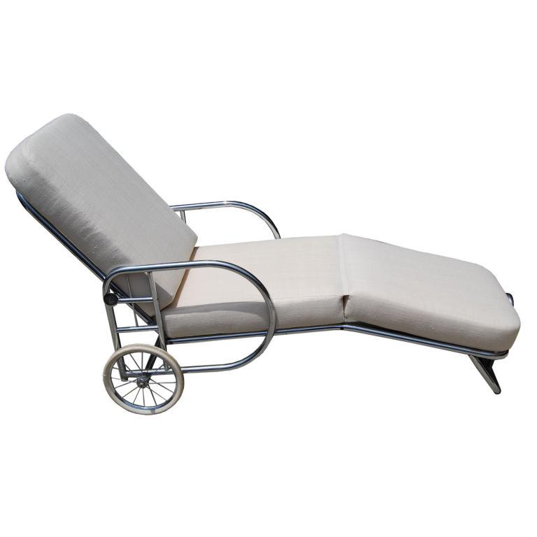 Wolfgang Hoffman  Rare Adjustable Chrome Chaise Longue $8,500