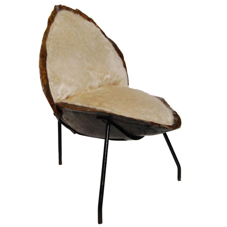 Unusual Double Tortoiseshell Slipper Chair $4,200