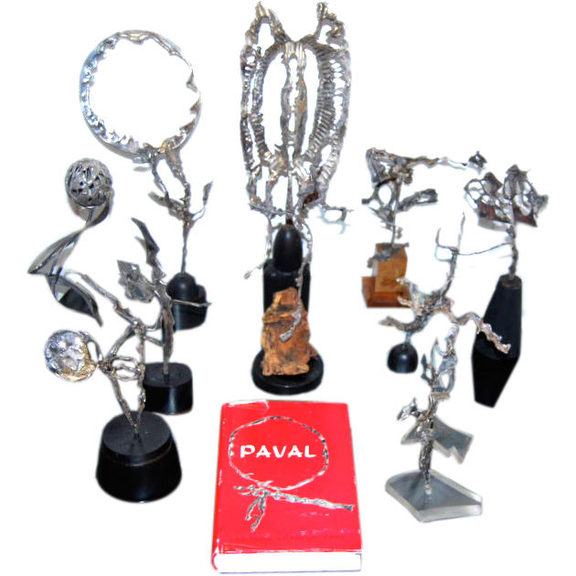 Paval   Collection of Sterling Silver Sculptures $9,500