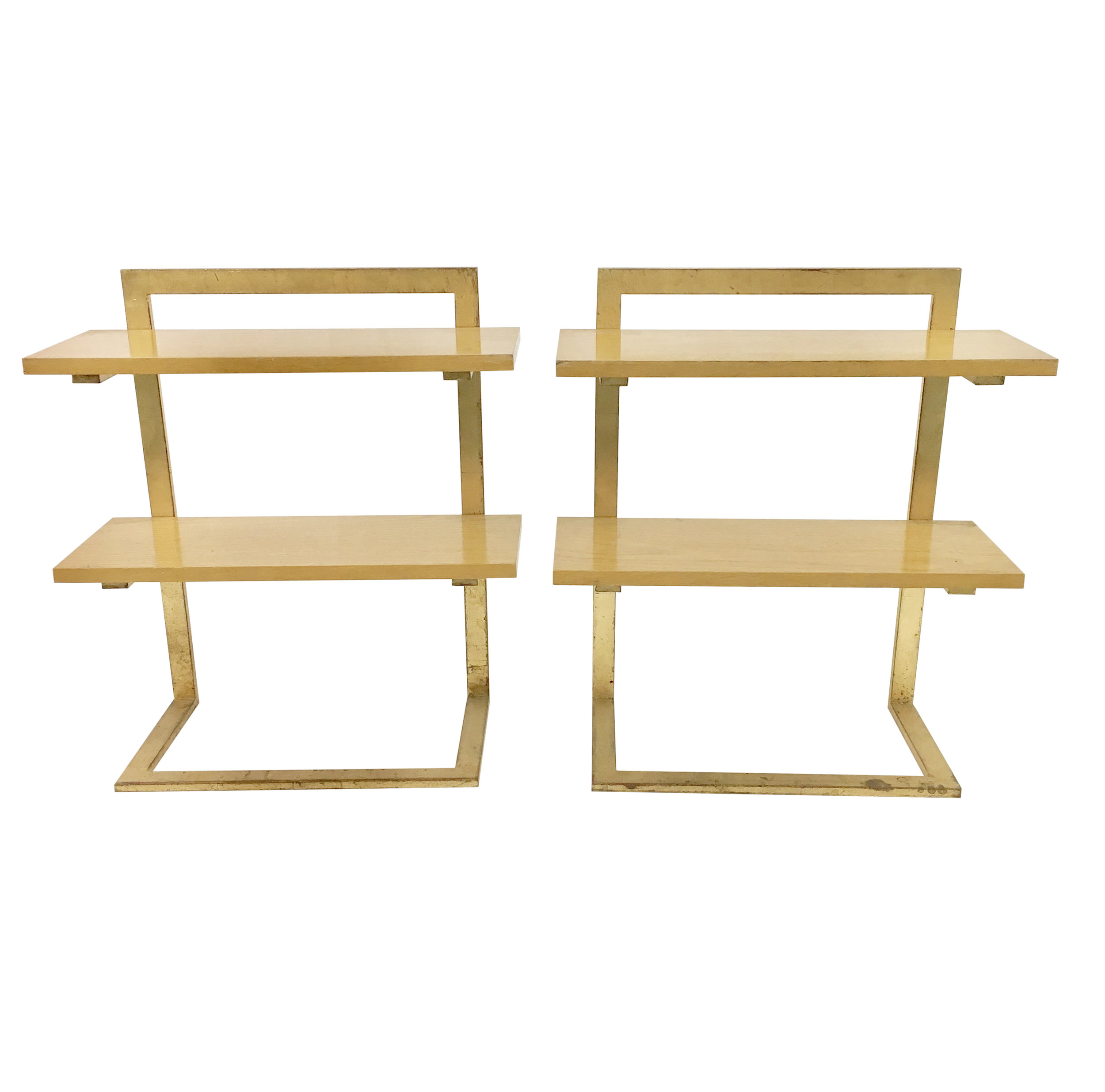 Jean Royère   Gilded Iron Side Tables   POR