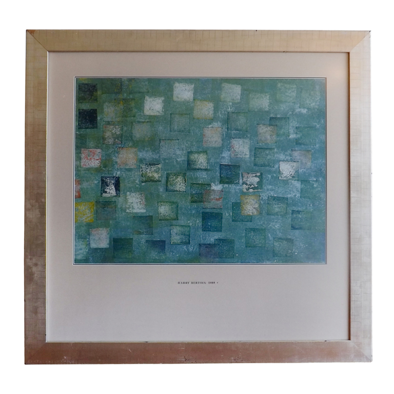 Harry Bertoia  Multi Colored Monotype in Silvered Frame $8,500