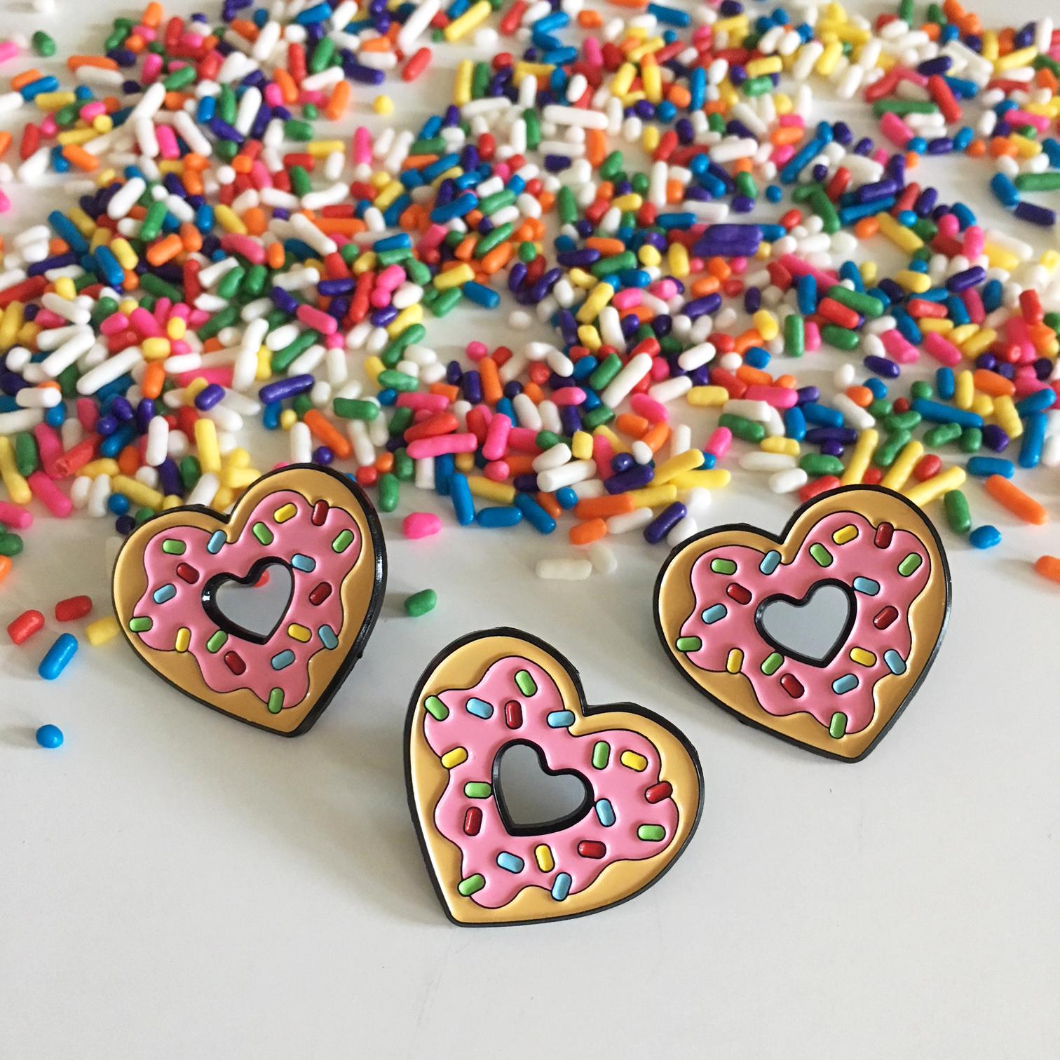 Sprinkles Donut Heart Enamel Pin