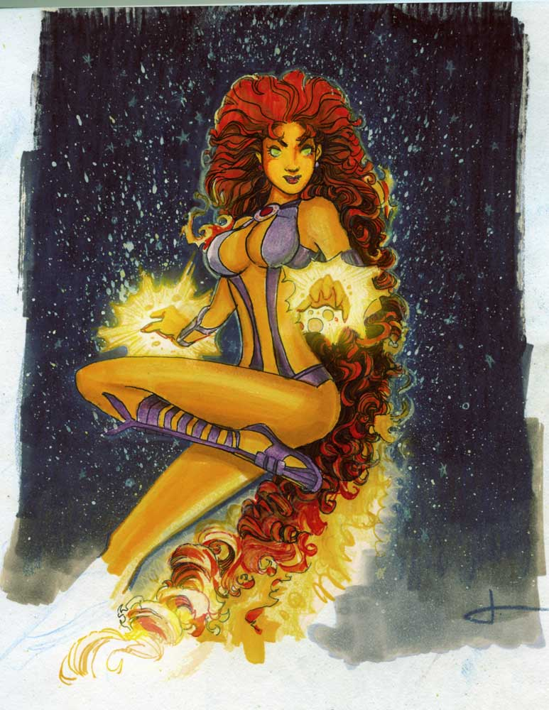 starfire kory dc comics teen titans