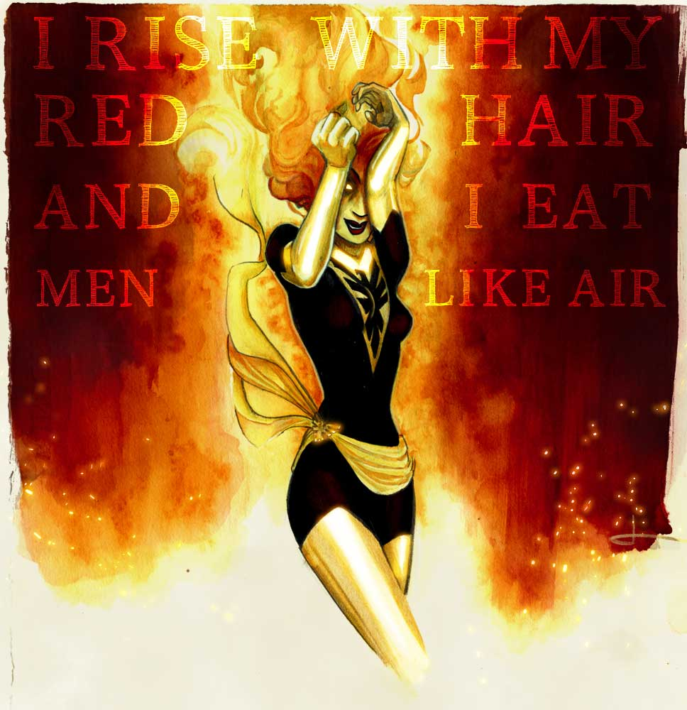 dark-phoenix-jean-grey-sylvia-plath-lady-lazarus-reckless-eyeballs