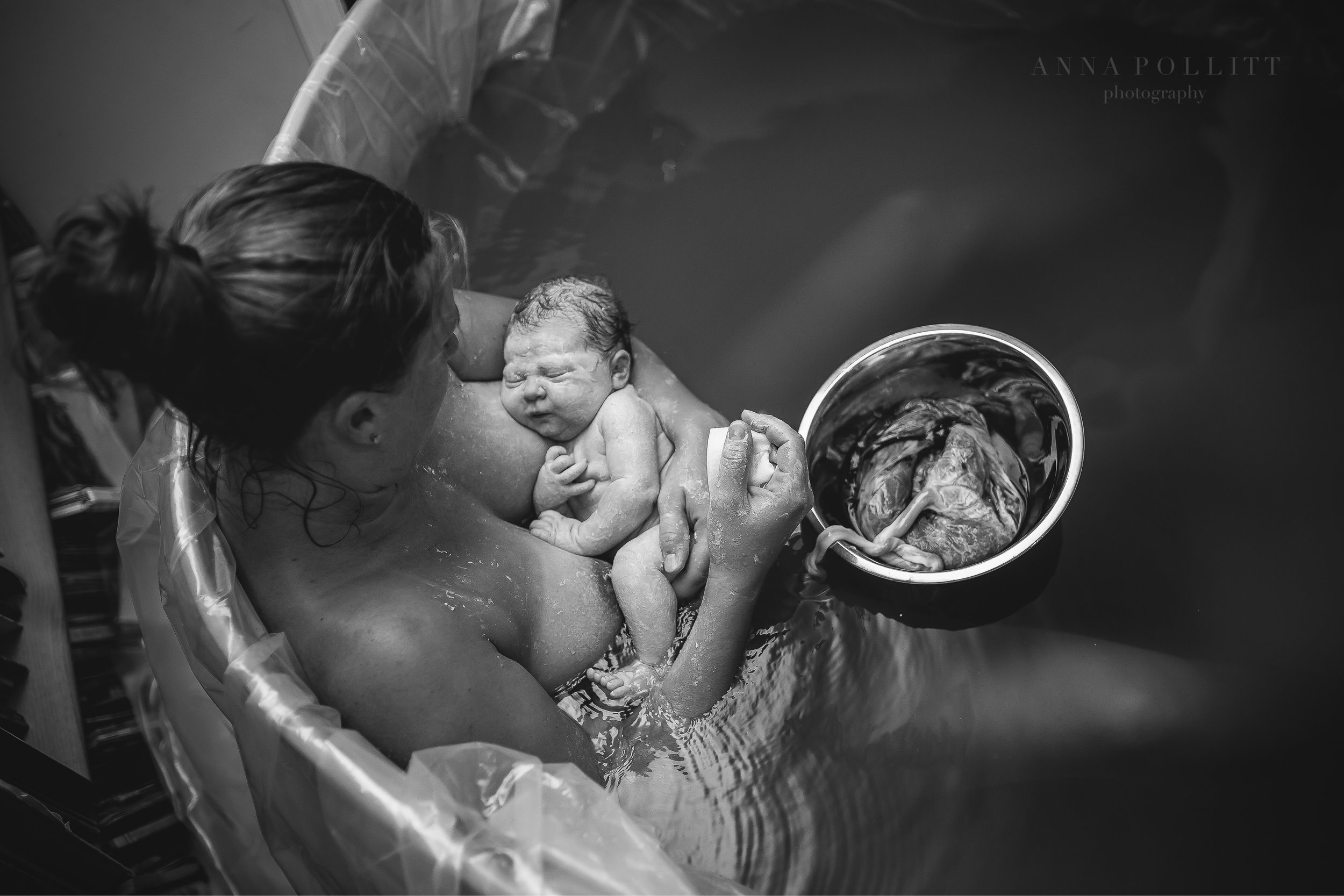 """""""This moment, between a mother and her new baby, truly reflects the calm, intimate connection they are experiencing... and when I look at this picture, I can almost feel it. I can feel the serenity. It's very soothing to see the peaceful, perfect love that they share.""""   Anna Pollitt Photography"""