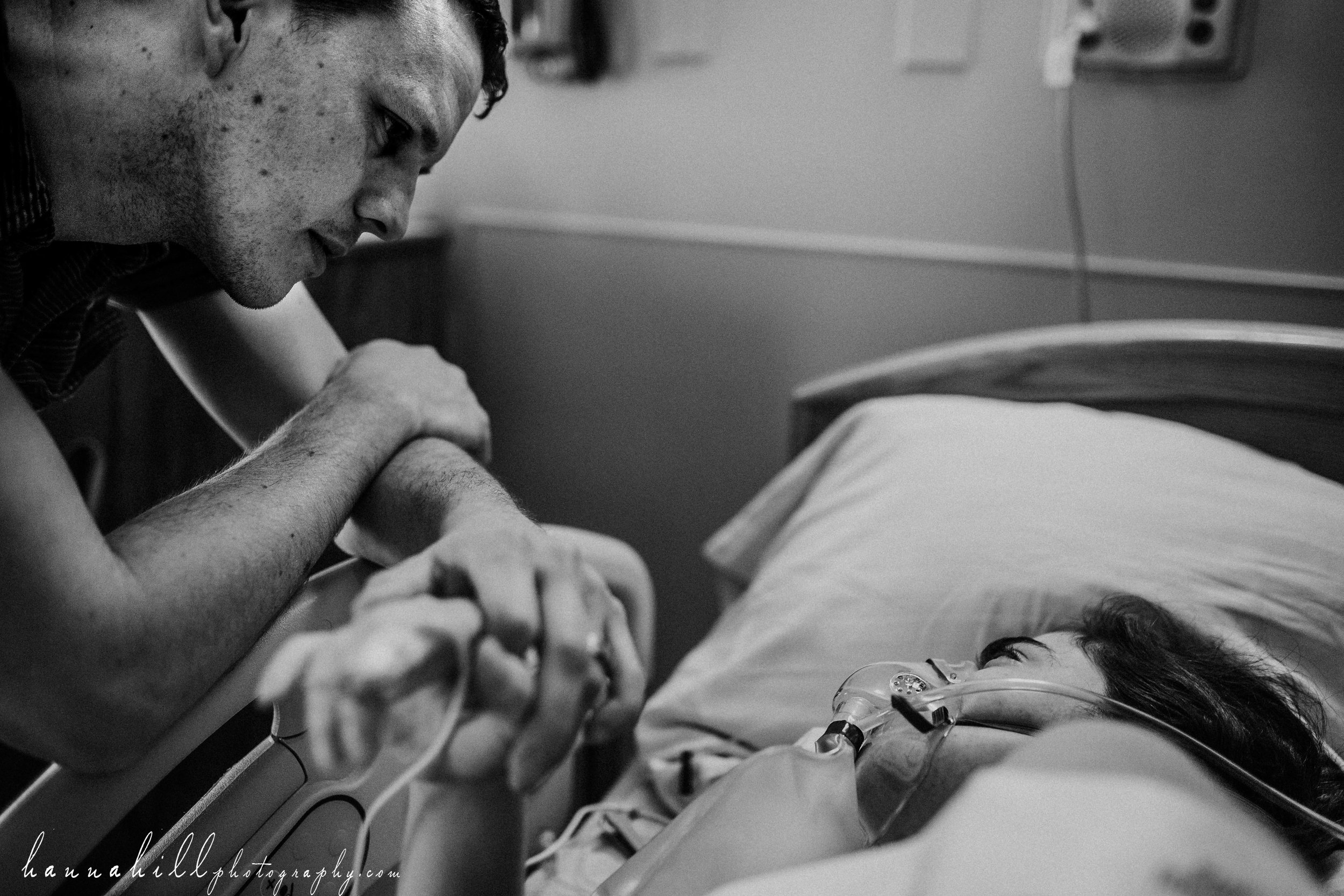 Emotional moment during birth
