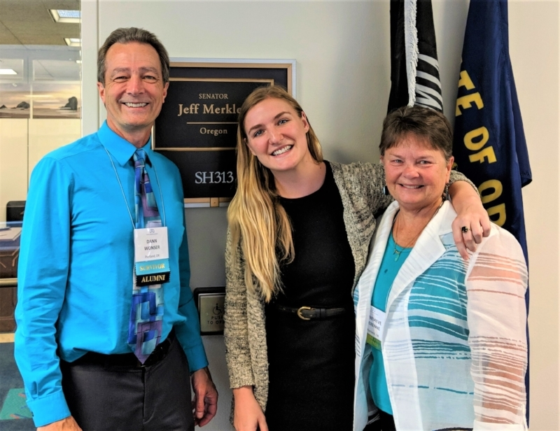 Alexa Damis-Wulff of Sen. Jeff Merkley's office with Dann and Genevieve