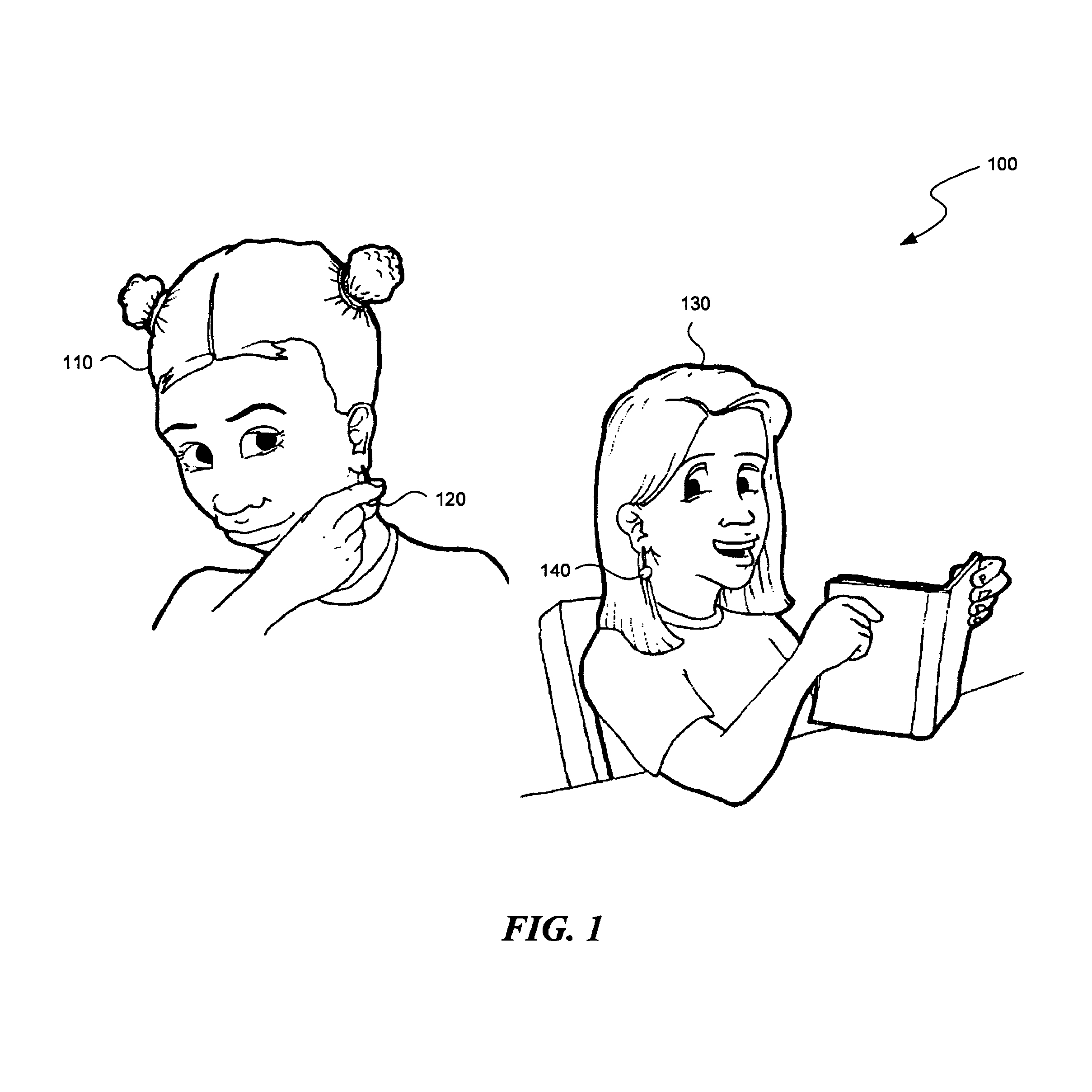 Communication between devices using tactile or visual inputs, such as devices associated with mobile devices