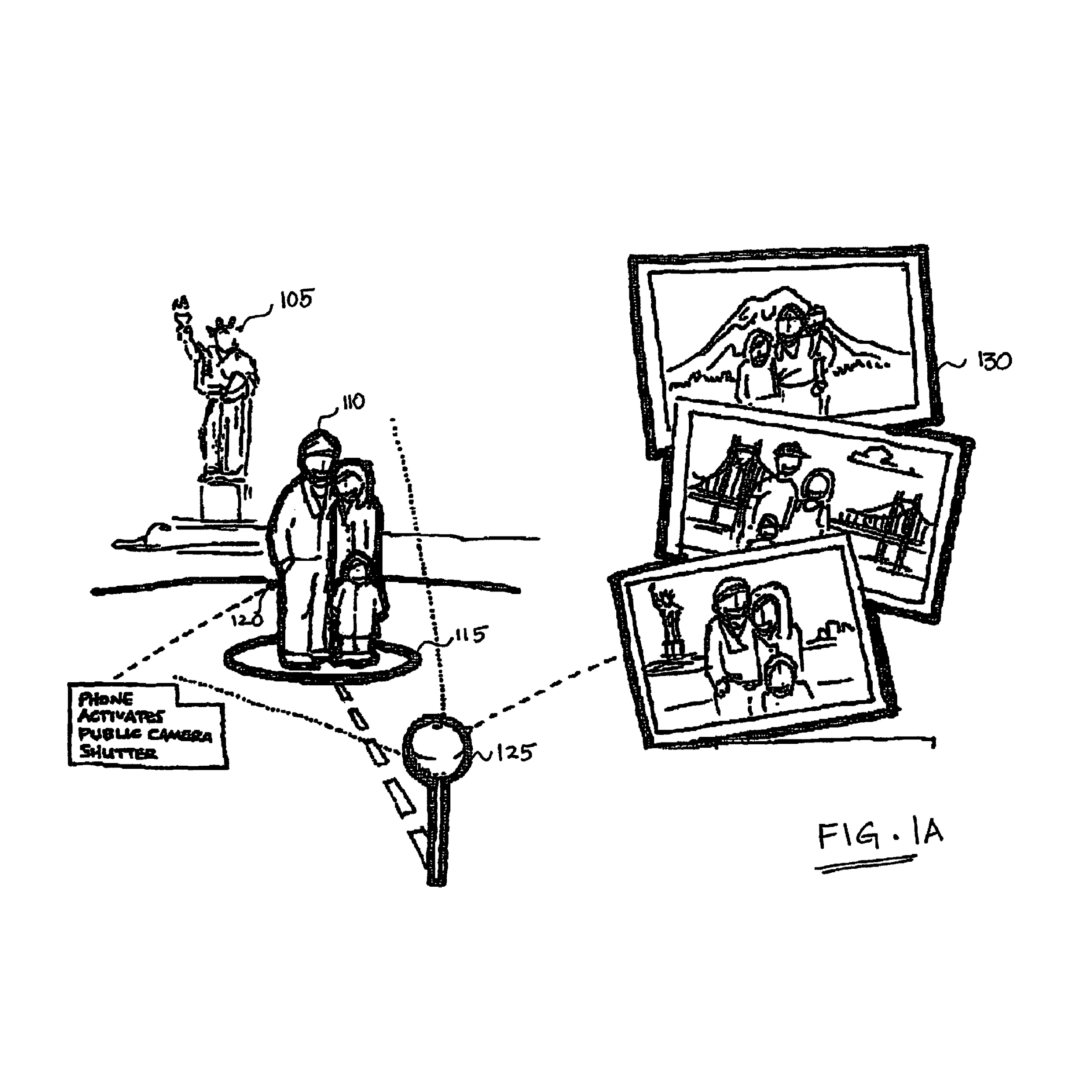 Camera pod that captures images or video when triggered by a mobile device