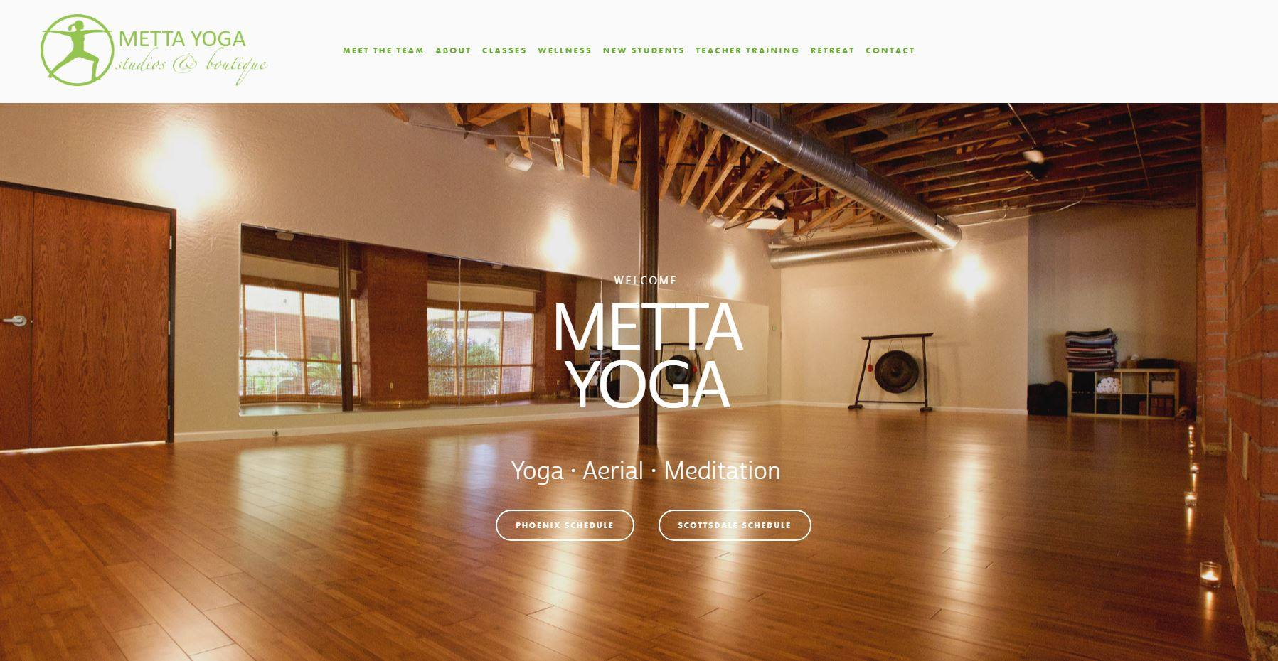 Metta Yoga website redesign