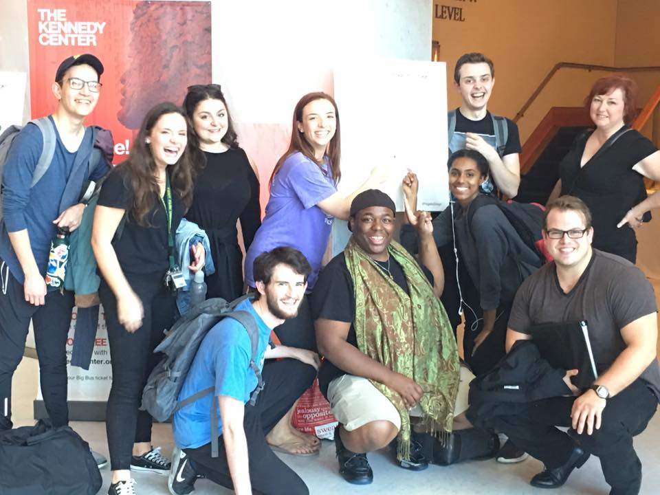 The wonderful cast and crew of Buried In Prosperity from Pittsburgh's Point Park University at the 2017 Kennedy Center Page-to-Stage Festival!