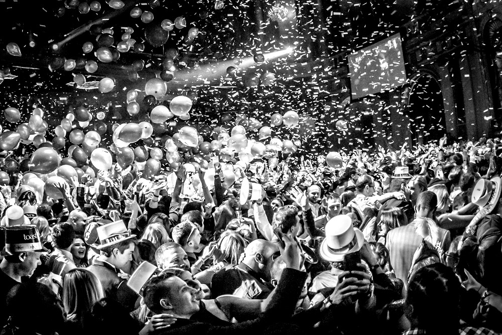 Sunday, December 31st at 10pm Join us for our annual end of the year block party blowout! No cover all night, 21+ only DJ's at Atlantic, Alley & top floor of  Arcade Bar  Free bubbly to ring in the new year!