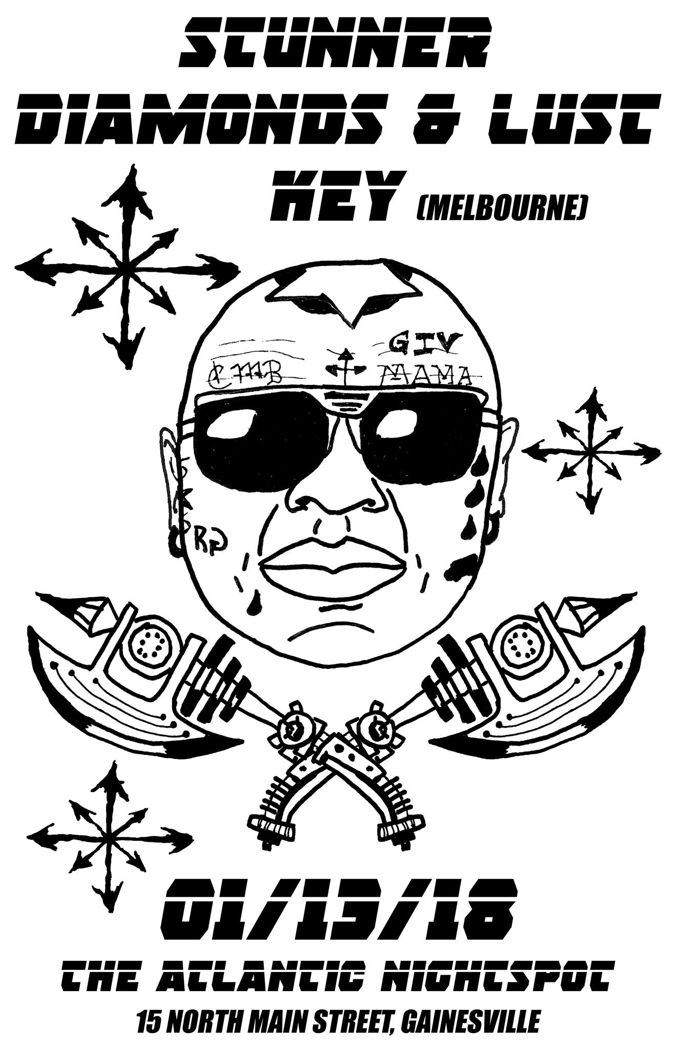 A Night of hard rock and metal with  Stunner - New Wave of Florida Heavy Metal  https://stunnernwothm.bandcamp.com/   Diamonds & Lust - Sleazy Hard Rock  diamondsandlust.bandcamp.com   Key - Tradition progressive metal from Melbourne, Florida  https://keytheband.bandcamp.com/