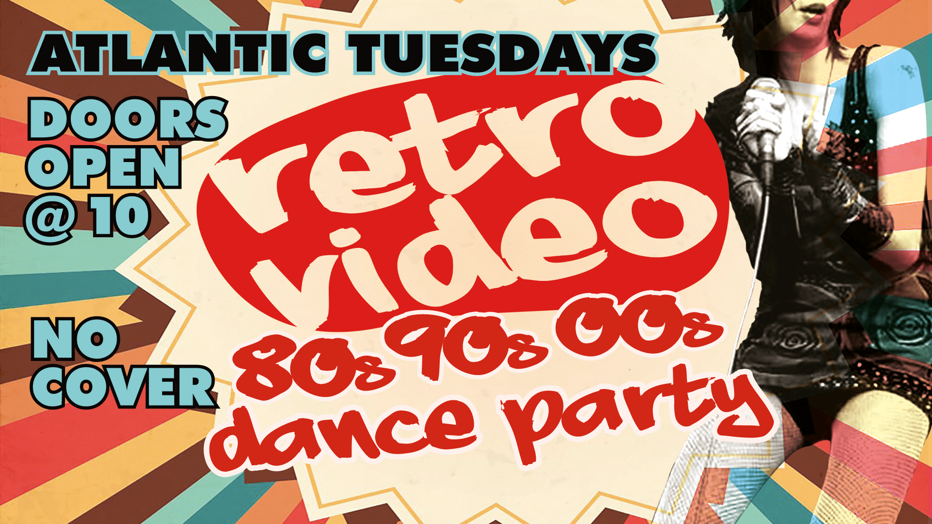 Retro Video Party kicks off Tuesday, April 3rd at 10pm Only the best 80's, 90's & 2k jams projected on the dance floor! Never a cover, 21+ only!  10pm - close  Always killer drink specials!