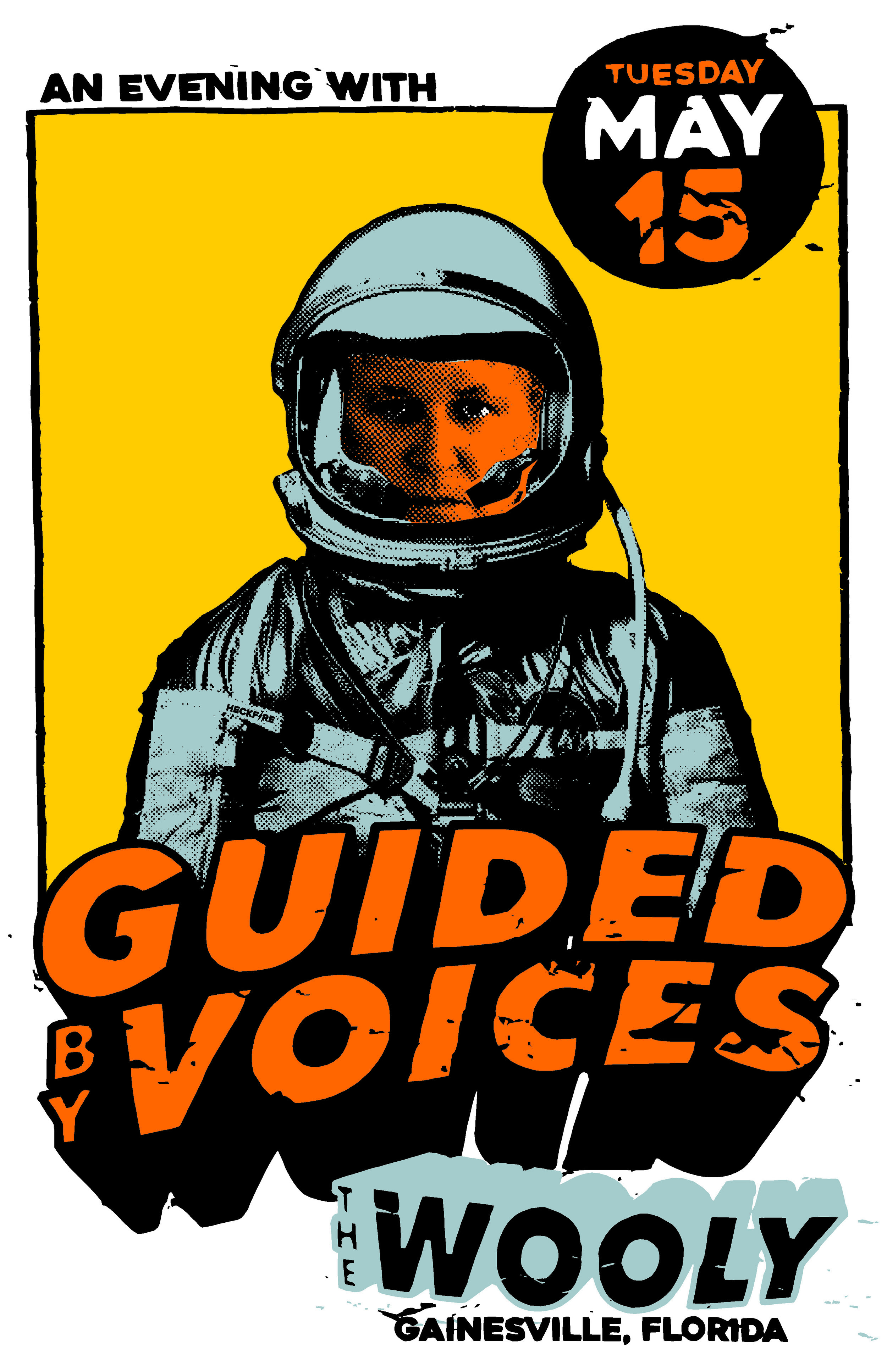 "Tuesday, May 15th  Motorbreath GVL  Presents: An Evening With:  Guided By Voices     http://www.gbv.com/   https://twitter.com/_GuidedByVoices   https://www.instagram.com/instagbv/   Doors at 7pm $25adv/$30dos  ////////////////////////// Twenty-two years ago in 1994, 38-year-old school teacher Robert Pollard & his merry band recorded Bee Thousand in a Dayton, Ohio basement on a 4-track cassette recorder. This improbable rock classic became an enormously influential album; Spin and Pitchfork have called it one of the best records of the '90s, and Amazon picked Bee Thousand as #1 on their list of the 100 Greatest Indie Rock Albums Of All Time. An amazing live band with a rabid following, the Washington Post called GBV ""the Grateful Dead equivalent for people who like Miller Lite instead of acid!""  GBV's new line-up re-unites Robert Pollard with former bandmembers Doug Gillard and Kevin March, along with exciting newcomers Mark Shue and Bobby Bare Jr. The group has been wowing audiences from coast to coast following fantastic new albums How Do You Spell Heaven and August By Cake (Robert Pollard's 100th release!)"