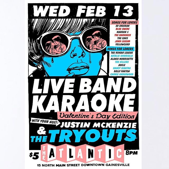 LIVE BAND KARAOKE TONIGHT 🎤 ❤️💔 love sick? Or sick of love? Either way you should come down to the Atlantic tonight to sing your heart out! Doors open at 8PM tonight. $5 cover LIVE BAND EXPERIENCE 🙌🏽