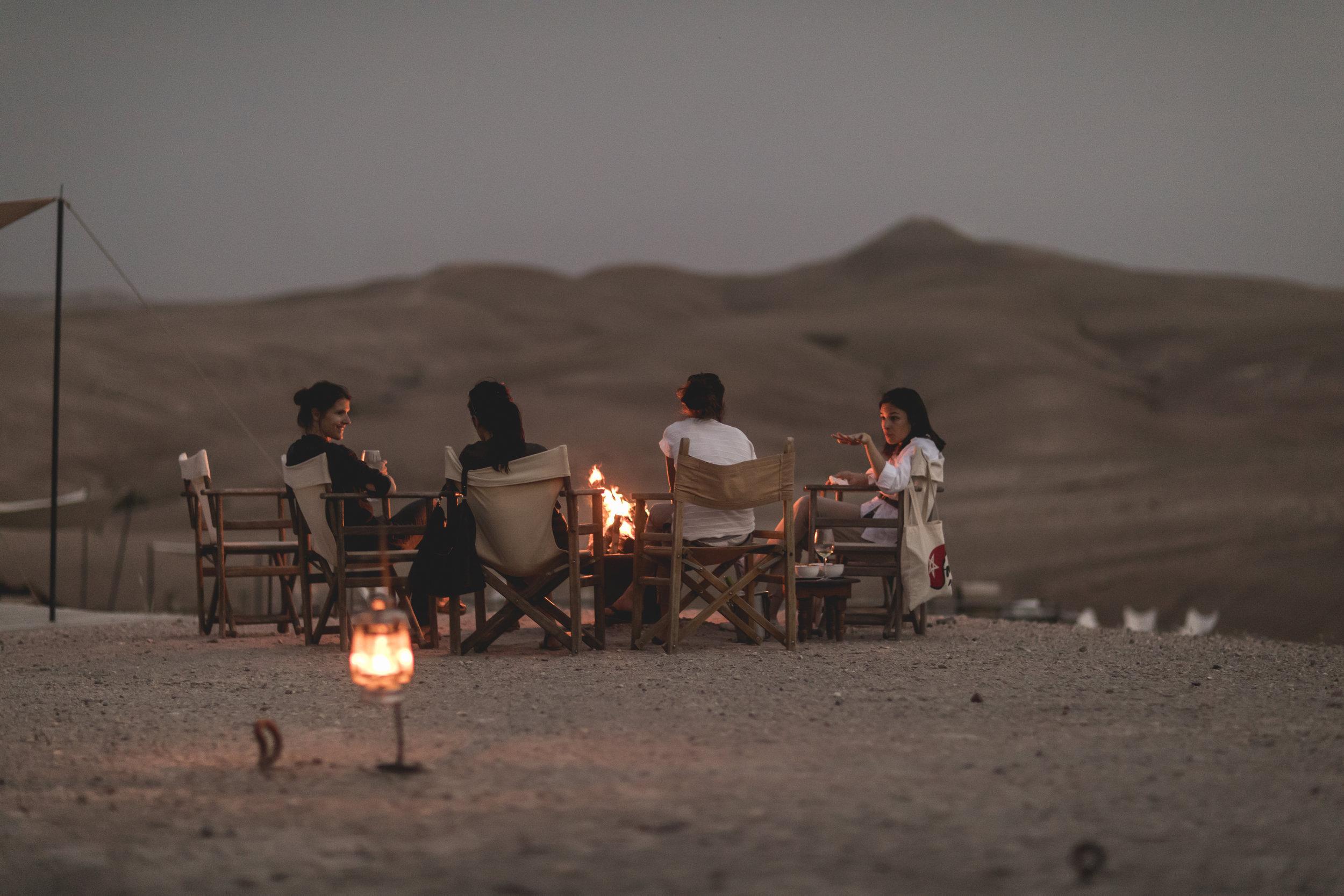 Thisis how I do retreats. campfire.JPG