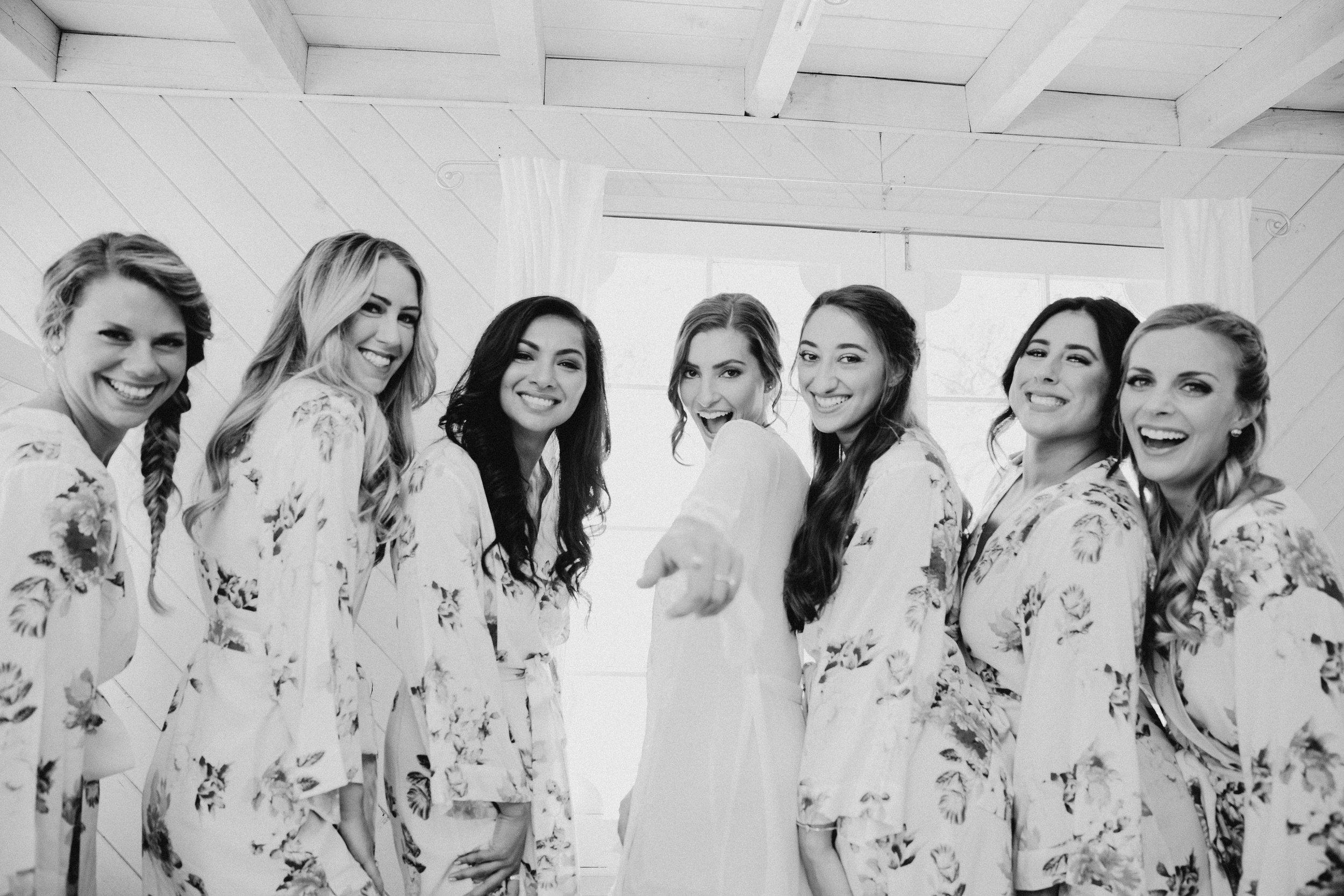 Rancho Del Cielo Malibu Wedding May Iosotaluno Photography Bridesmaids
