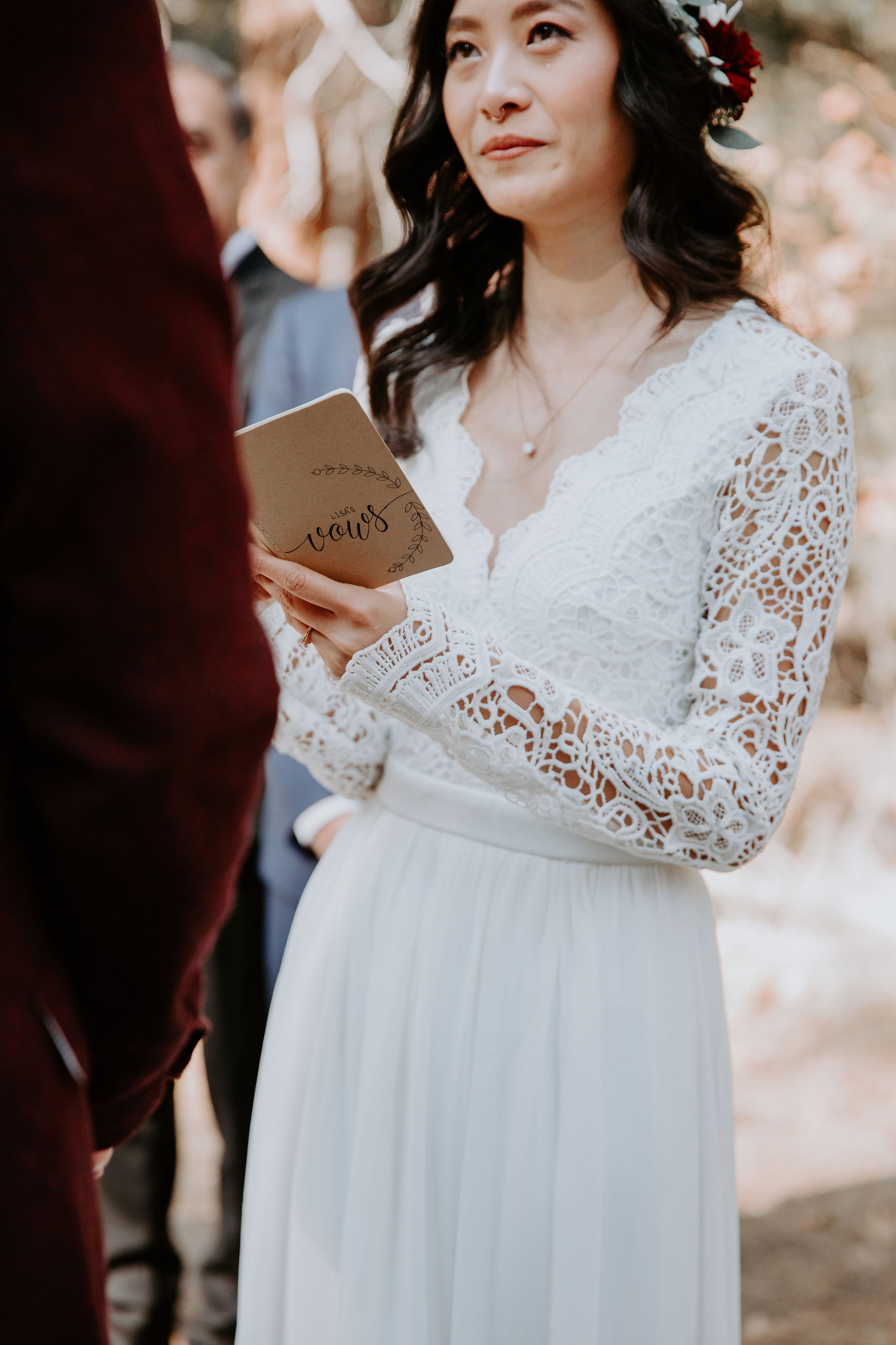 Yosemite National Park Elopement Ceremony May Iosotaluno Photography Vows Book