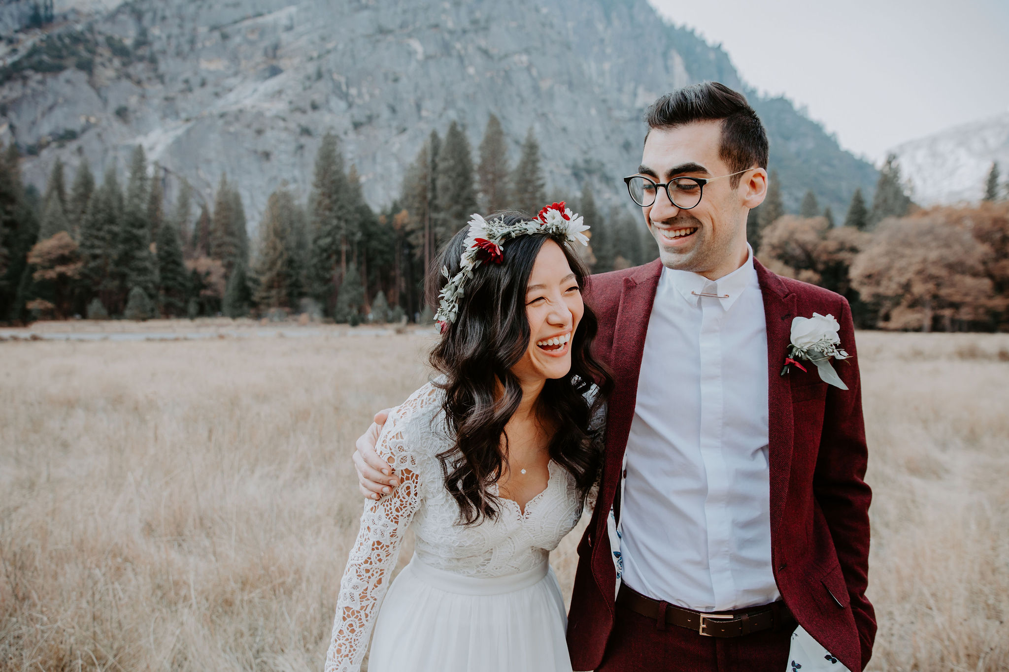 Yosemite National Park Elopement Ceremony Meadow May Iosotaluno Photography