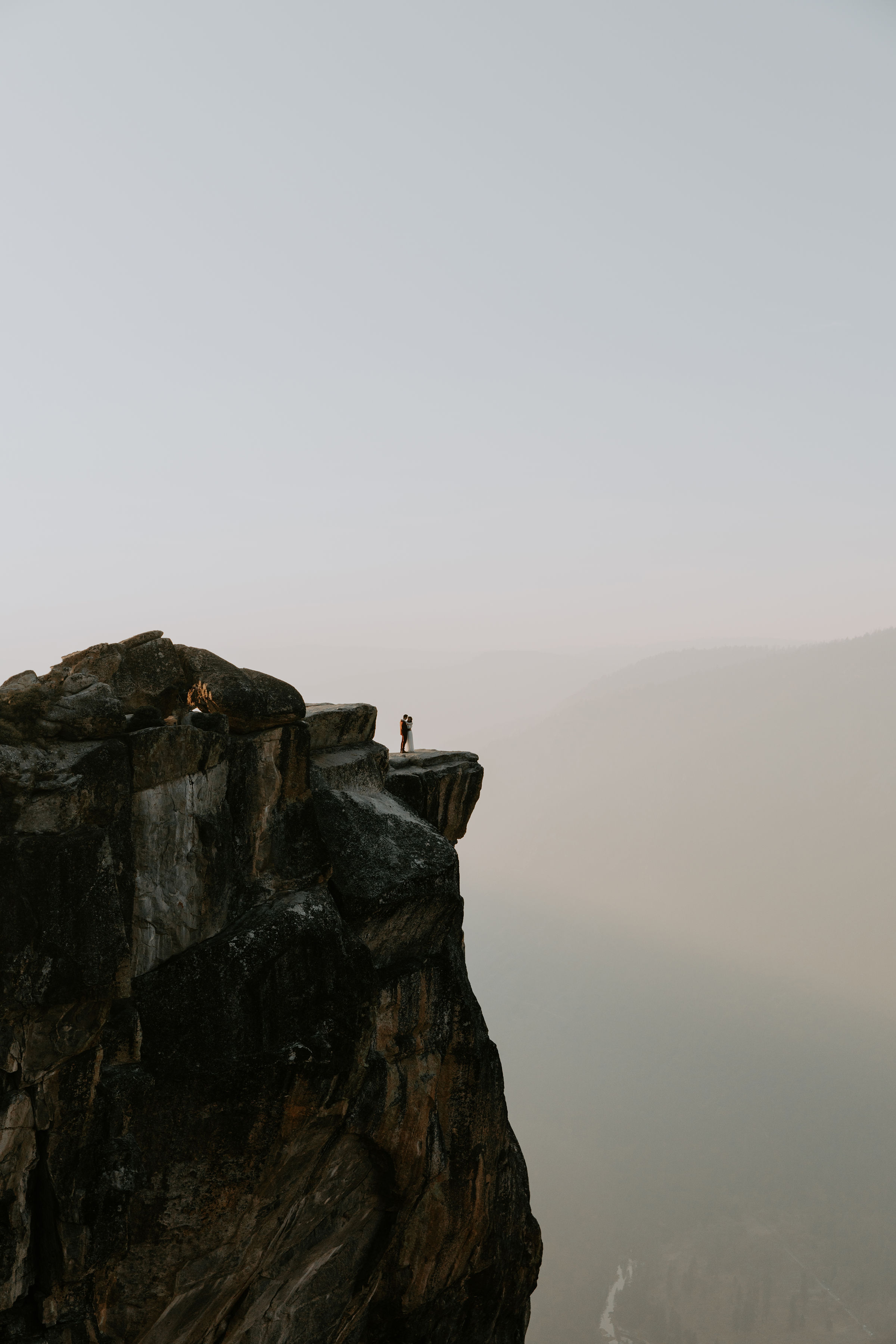 Yosemite National Park Elopement Taft Point Sunset