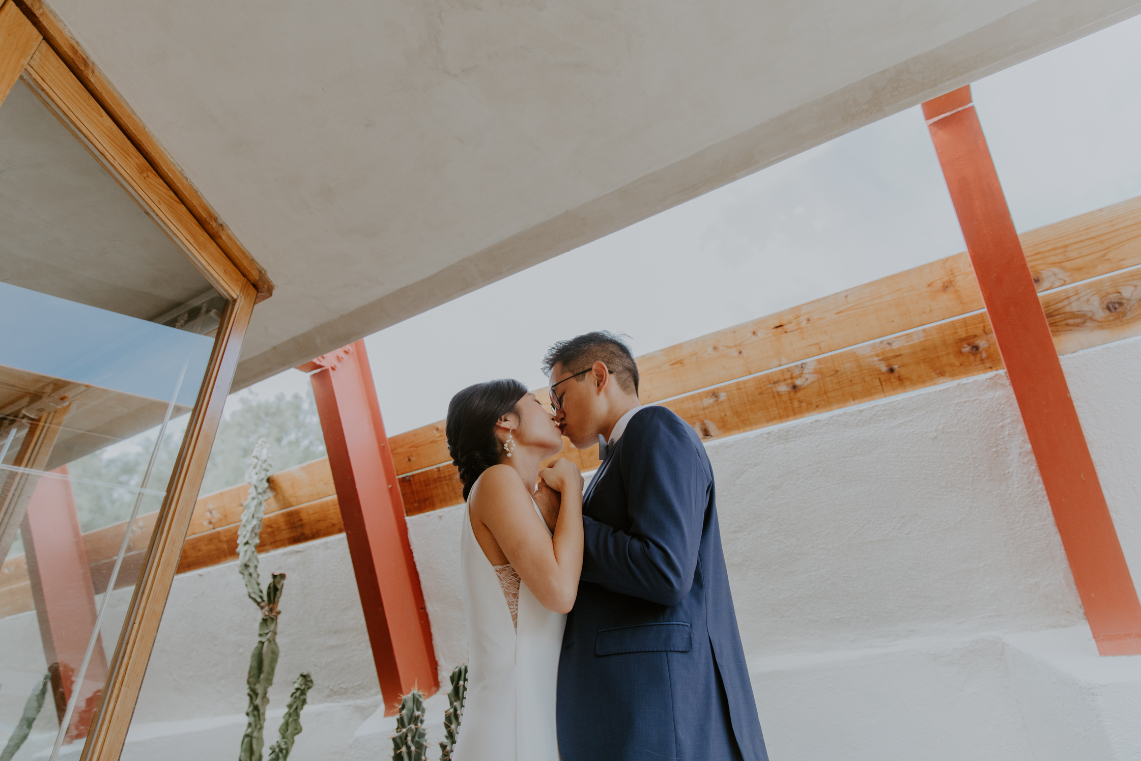 Mid Century Modern Palm Springs Wedding Lautner Compound May Iosotaluno Photography 16
