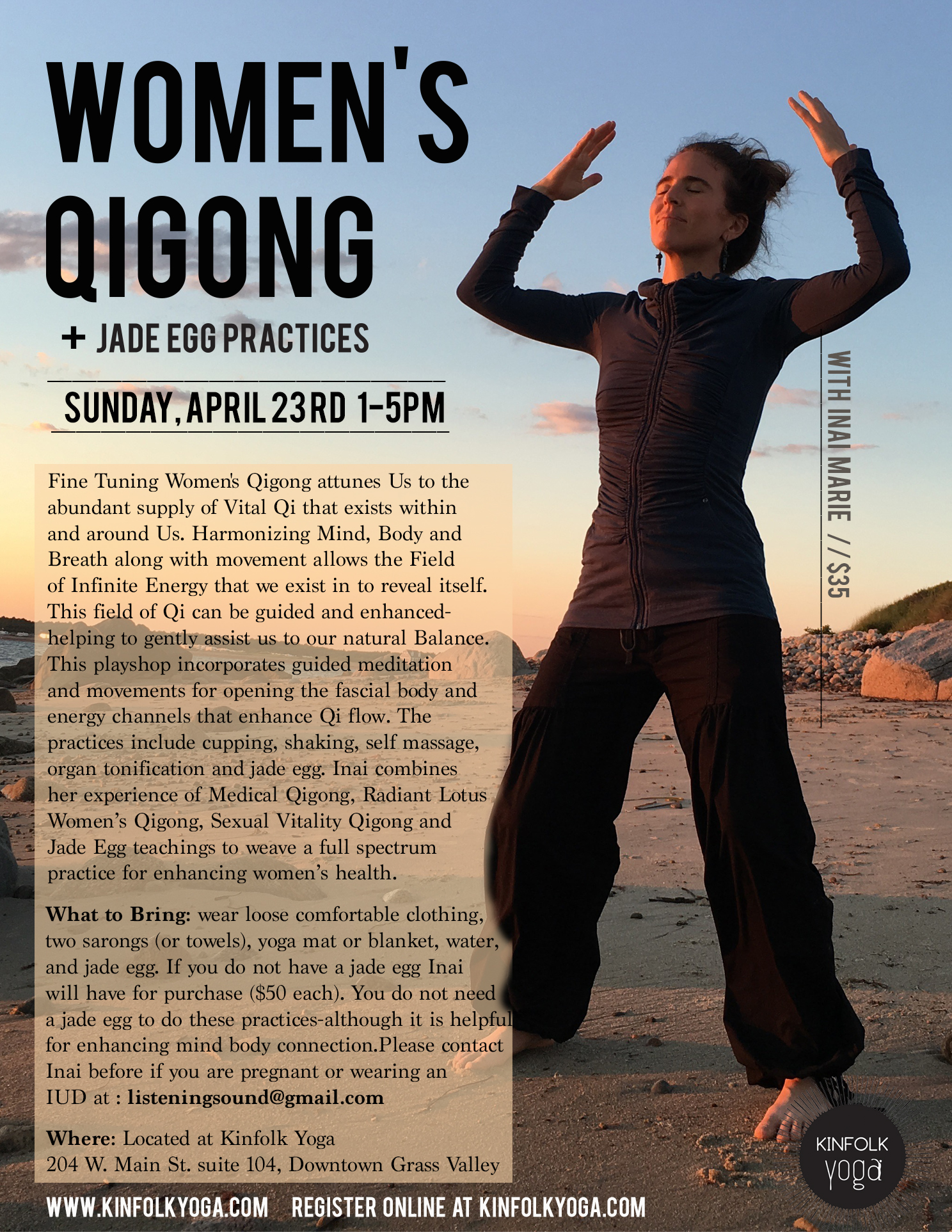 women Qigong jade egg practices kinfolk yoga workshops nevada city