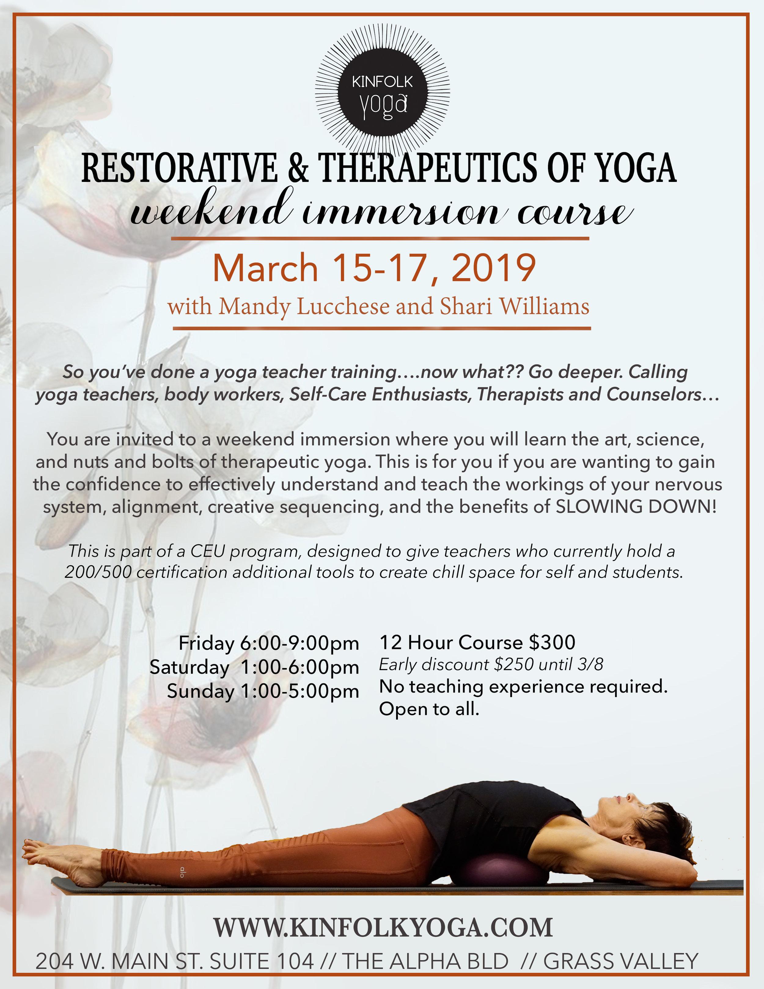 Kinfolk Yoga Offerings