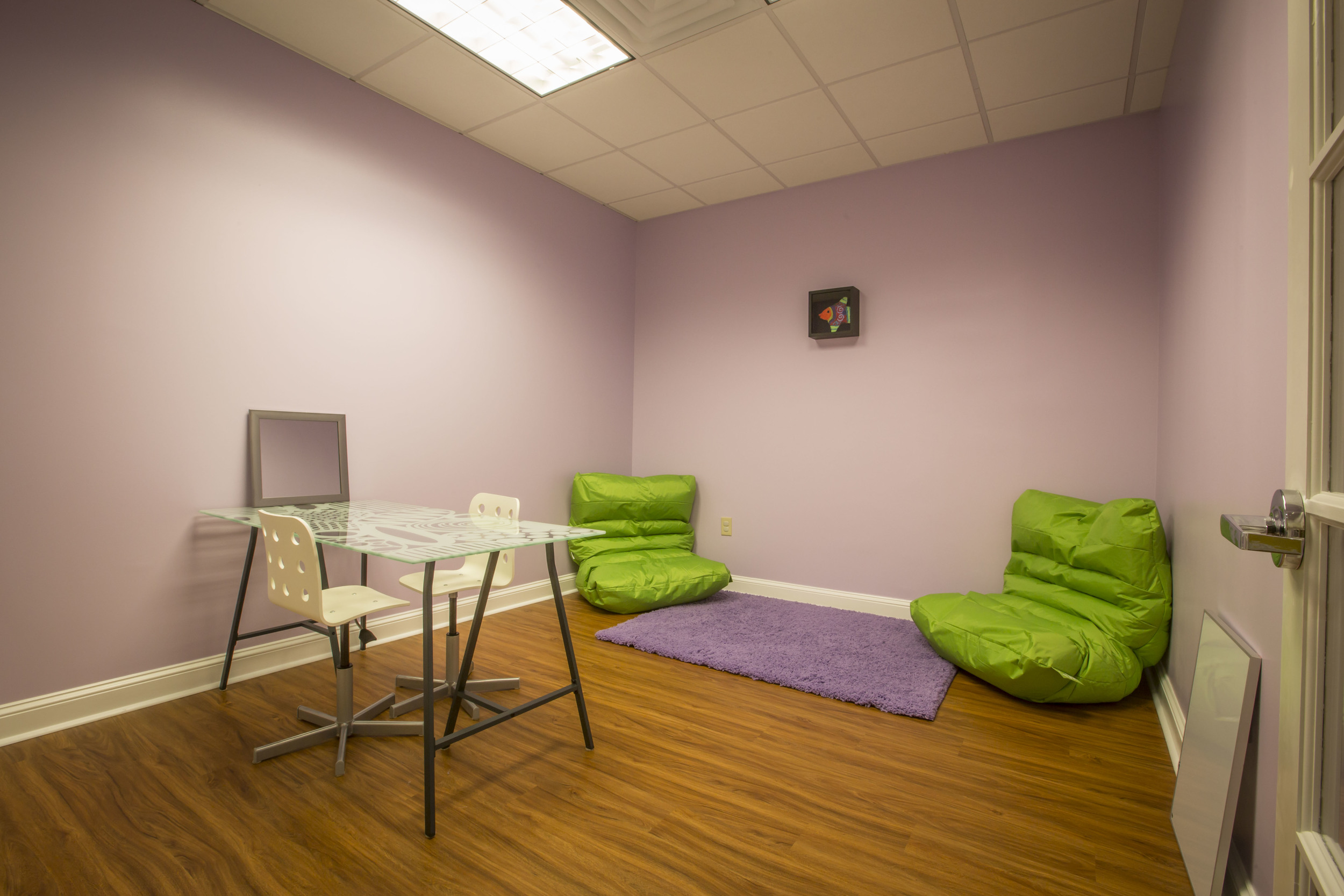 Our therapy rooms are designed to be relaxing and engaging so your child can focus on progressing and achieving their goals.