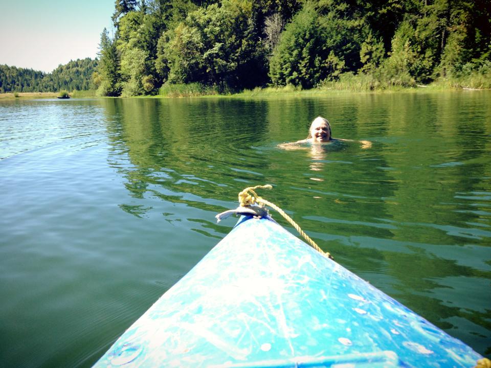 swim & kayak in the reservoir