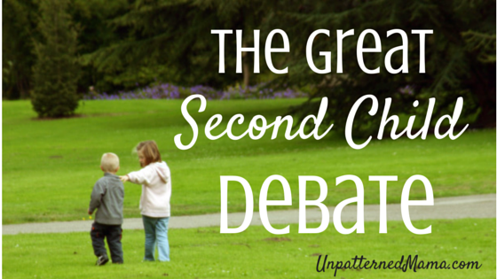 The Great Second Child Debate